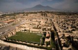 Southern Italy - Pompeii, a historical town destroyed by lava and rediscovered during pipe works